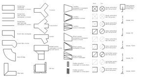 HVAC ductwork symbols, vertical duct, variable bend, duct, transitioning,  reducing, duct, supply, duct, straight duct, slidin… | Hvac ductwork, Duct  work, Hvac duct | Hvac Duct Drawing Symbols |  | Pinterest