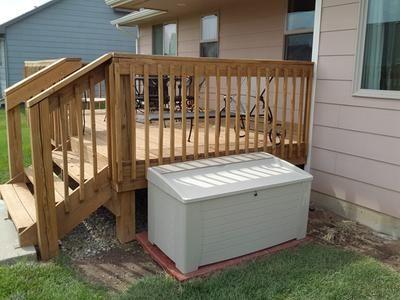 Patio Garden Resin Decking Deck Outdoor Storage Units