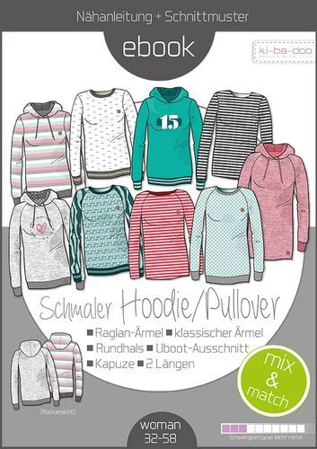 E Book Ki Ba Doo Sweater Hoodie Mix & Match Damen | Stoffe