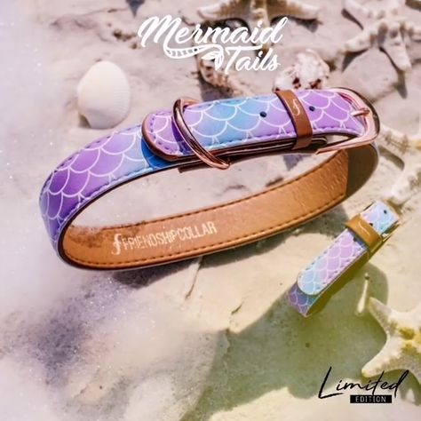 Does your bestie believe in mermaids? #friendshipcollar #mermaidtails #vegan  #crueltyfree #bestie #bestfriends #alwaystogether #beach #mermaid #mermaids #happy
