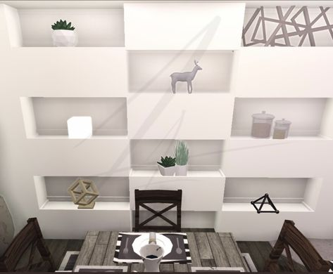 Modern Wall Planters Pillars And Simple Shelves In 2020 Sims House Design Unique House Design Tiny House Layout