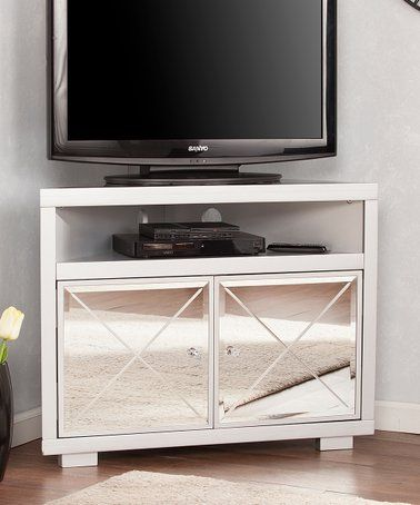 Look What I Found On Zulily Mirage Mirrored Corner Tv Stand Zulilyfinds Wall Mounted Tv Cabinet Tv Cabinets With Doors Corner Tv Stand