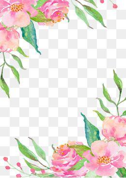 Pink Flowers Plant Frame Png Decoration Png Graphics Decoration Vector Diagram Png Graphics Vector Diagram Pi Flower Border Png Flower Border Floral Prints Art
