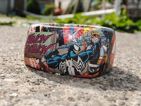 Spiderman crafts bracelet comic book mod podge