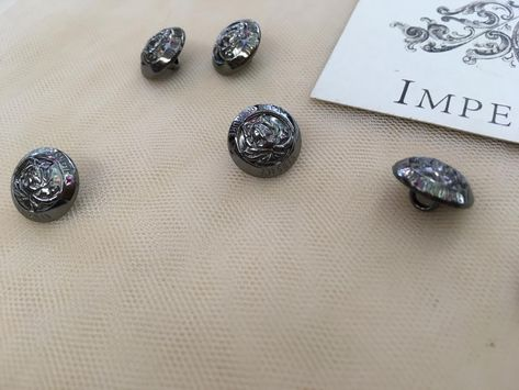 Dark Gray buttons, Buttons, Buttons for dress, Applique buttons, Applique, Gray buttons, Gray knob, Knob for clothes, Pommels, Poga30