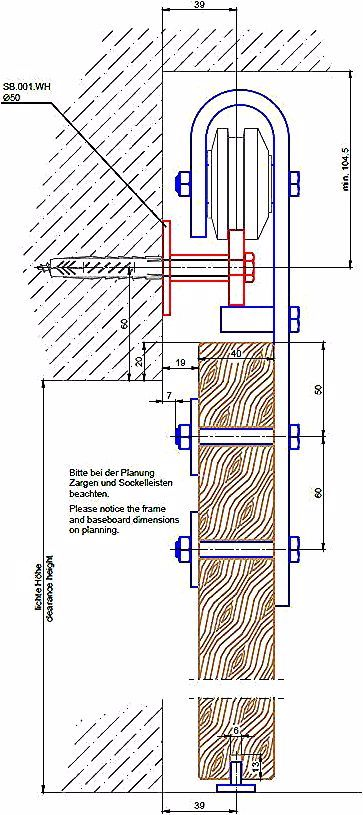 Schiebeturbeschlag Stahl S235jr Schwarz Bruniert Fur Holzturen