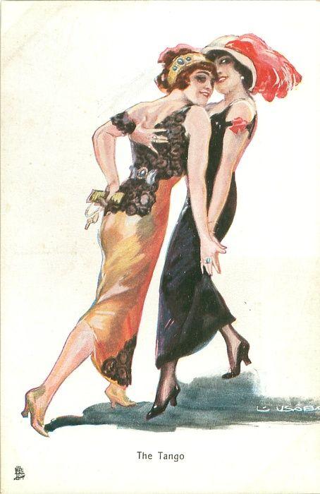 dancing the tango, two women dance