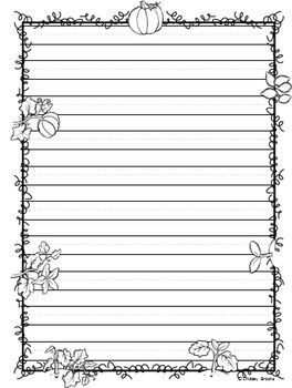 Fall Autumn Writing Paper Writing Paper Letter Paper Paper