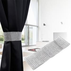 2x embrasse rideau ruban strass largeur