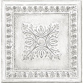Nextwall Moroccan Style Peel And Stick Mosaic Tile Wallpaper Blue Copper Grey Amazon Com Tin Tiles Nuwallpaper Brewster Wallpaper