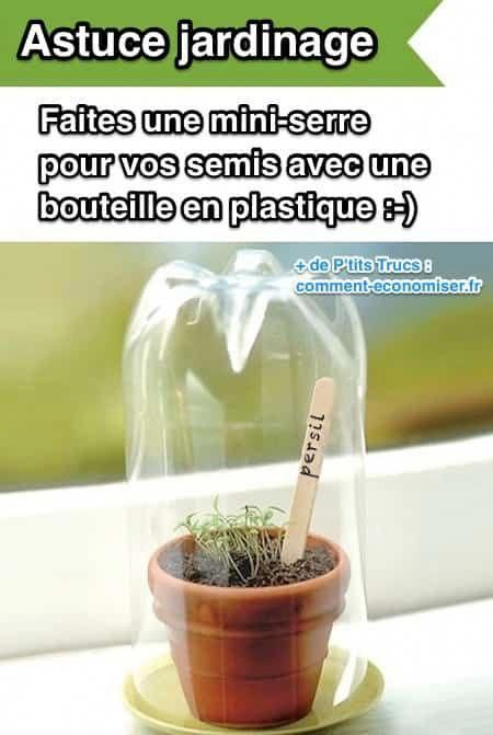 Pour faire une serre pour vos semis, utilisez une bouteille ...