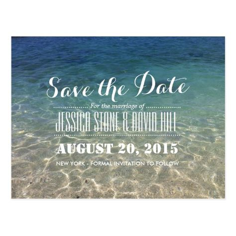 Summer Tropical Beach Wedding Save The