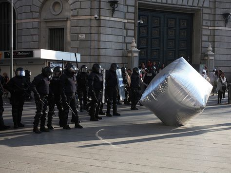 11 Classic Examples of Design for Political Protest | To rally against climate change, the Eclectic Electric Collective started sending giant blow up balloons, instead of people (who would have been responsible for fuel used during travel) to different protest sites around the world.  Victoria and Albert Museum, London  | WIRED.com