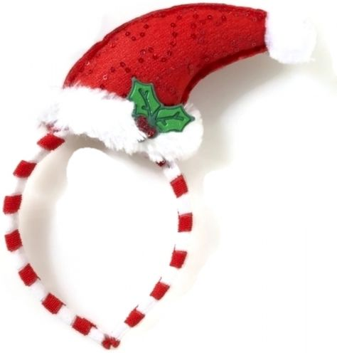 Santa Hat with Reindeer Antlers Plush Adult Christmas Hat w// Bells for Parades