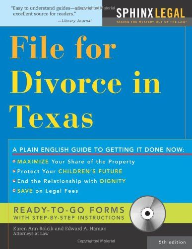 Download Pdf File For Divorce In Texas Legal Survival Guides Free