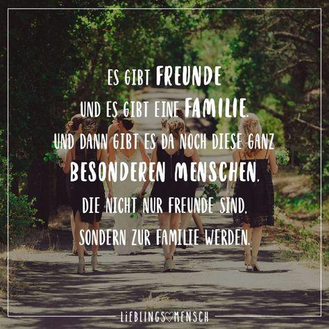Visual Statements®️ Es gibt Freunde und es gibt eine Familie und dann gibt es da noch diese ganz besonderen Menschen die nicht nur Freunde sind sondern zur Familie werden.  Sprüche / Zitate / Quotes / Leben / Freundschaft / Beziehung / Liebe / Familie / tiefgründig / lustig / schön / nachdenken
