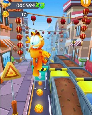 Garfield Rush Is A Free Android New Action Endless Runner Mobile Multiplayer Game Where The Player Is Garfield In 2020 Runner Games Garfield And Odie Multiplayer Games