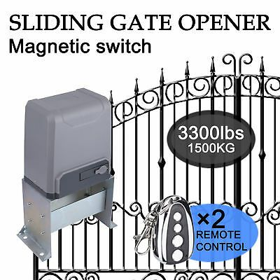 Ad Ebay Link Sliding Gate Opener For Gates Up To 3300lbs W Remote Controls Heavy Duty Sliding Gate Opener Sliding Gate Electric Sliding Gates