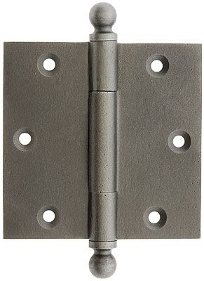 3 1 2 Inch Cast Iron Door Hinge With Ball Finials Iron Door Hinges Door Hinges Iron Doors
