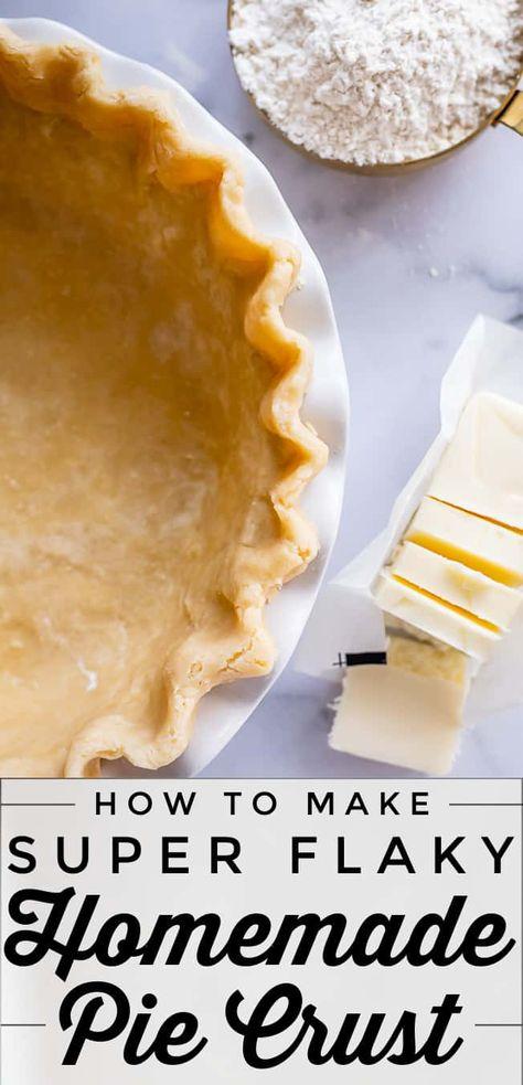 Best Pie Crust Recipe, Apple Pie Crust, Apple Pie Recipe Easy, Easy Pie Recipes, Homemade Pie Crusts, Homemade Apple Pies, Pie Crust Recipes, Homemade Butter, Apple Pie Recipes