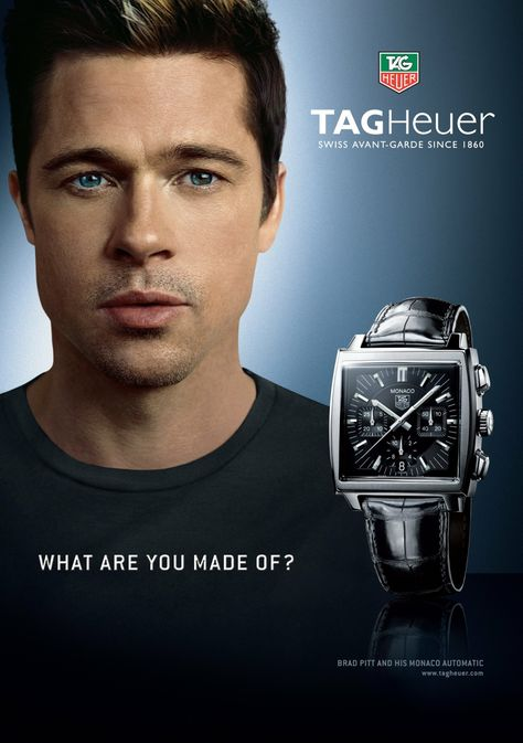 Brad Pitt Tag Heuer Monaco watch