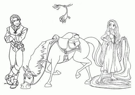Colorear Princesas Dibujos Rapunzel Dibujo Paginas Para