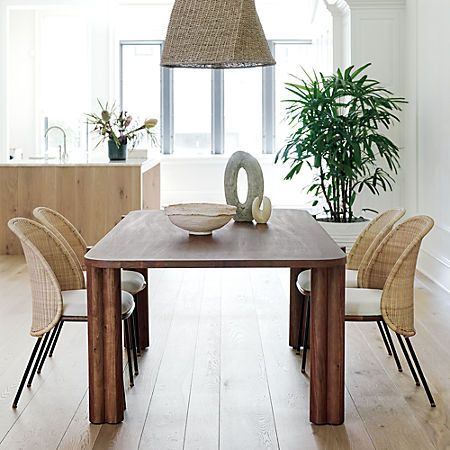 Camille Acacia Wood Dining Table Reviews Cb2 In 2021 Dining Table Wood Dining Table Wood Dining Room Table