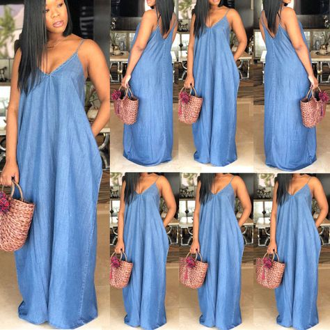3605fd1e489 $ 6.23   NEW WOMEN'S LADIES SEXY PINAFORE DUNGAREE DRESS DENIM BLUE WASH UK  SIZE 8 TO 16 ❤ #womens #ladies #sexy #pinafore #du…