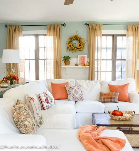 Colorful Fall Decorating Ideas Our Fall Home Tour Fall Living