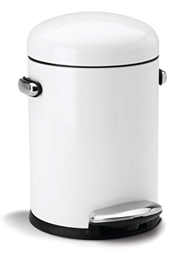 Aanbieding Wesco Kickmaster.45 Litre Retro Pedal Waste Bin With Liner Colour White