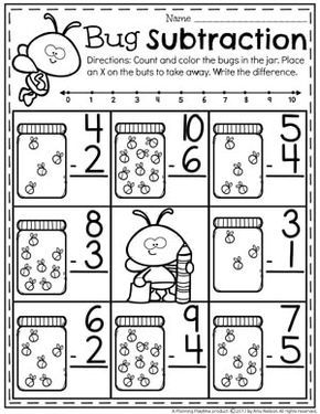Subtraction Worksheets Planning Playtime Kindergarten Subtraction Worksheets Subtraction Kindergarten Kindergarten Math Worksheets