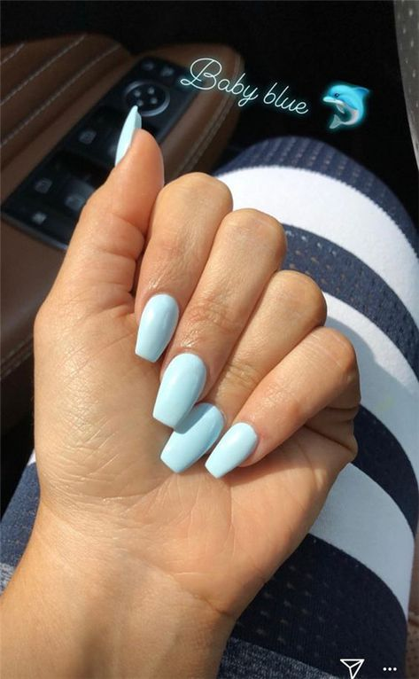 The Best Acrylic Short Coffin Nails In Summer - Nail Art Connect#acrylicnails#summernails#coffinnails