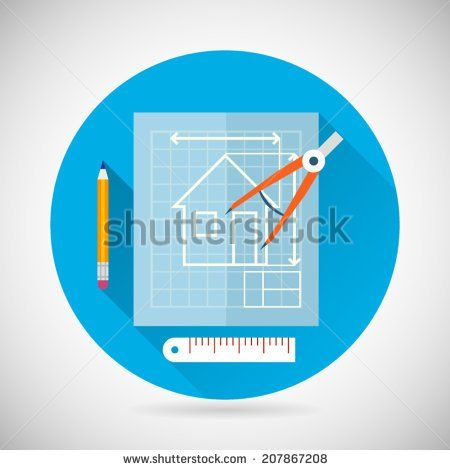 11 best images on pinterest building architecture and engineering planning symbol blueprint and compass divider icon on stylish background modern flat design vector illustration malvernweather Images