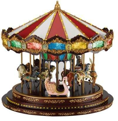 Christmas Carousel Recreation 2021 Marquee Deluxe Carousel Walmart Com In 2021 Mr Christmas Indoor Christmas Decorations Indoor Christmas