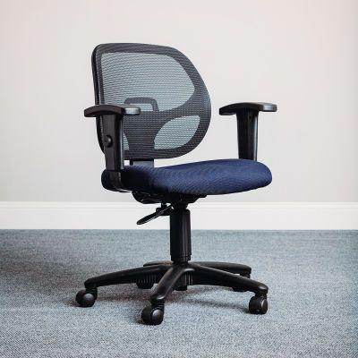 Interion Mesh Office Chair With Arms Fabric Blue Mesh Office Chair Office Chair Ergonomic Office Chair