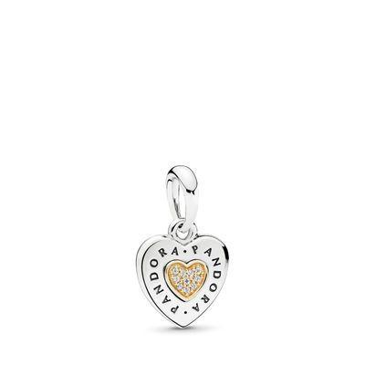 anello pandora cuore pendente