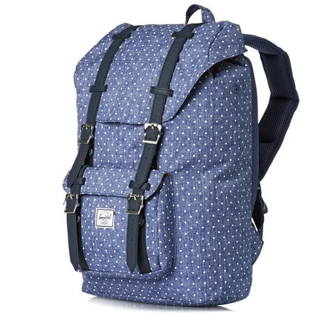 9e0c6d04221 Women s Herschel Backpacks - Herschel Little America Mid-volume Laptop  Backpack - Limoges Crosshatch