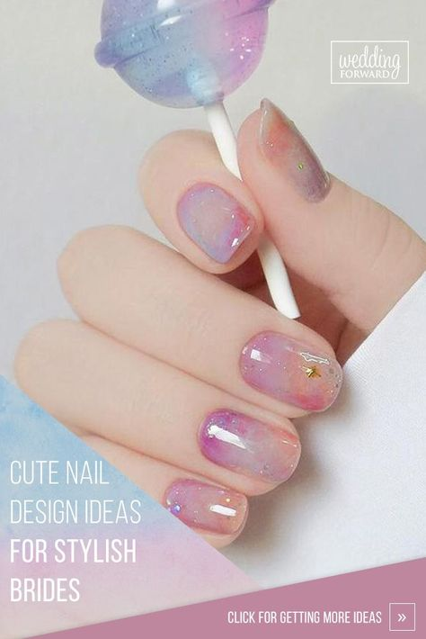 30 Cute Nail Design Ideas For Stylish Brides ❤ It's necessary for every bride to chose wedding nail design.To help you make a choice we've created popular and beautiful collection of wedding nail designs. #wedding #weddingnails #bridalnailart #naildesign