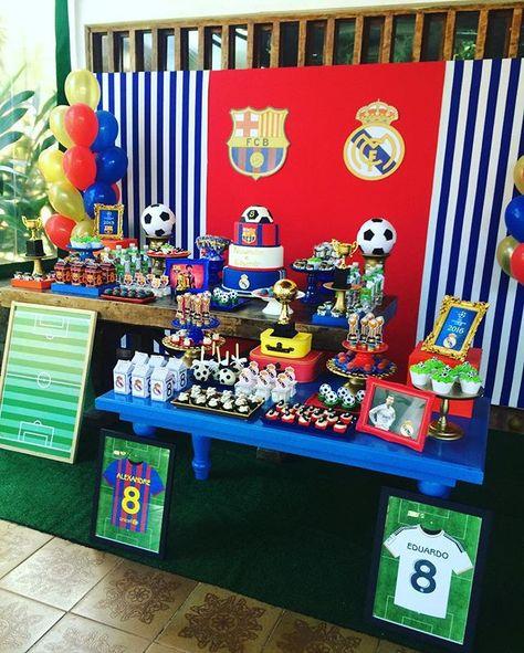 33 Ideas De Adrian Disenos De Unas Fiesta De Barcelona Fiestas Infantiles De Fútbol