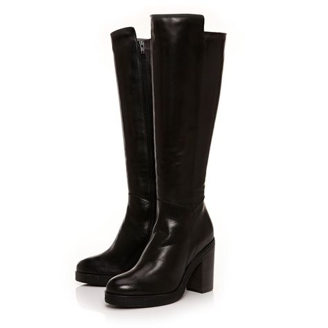 3dc468704a3 Montana Black Flat Over-The-Knee Boots Over-the-knee boots are given a  sophisticated edge with our Montana style