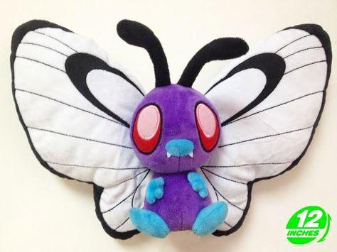 Big 12 inches Pokemon Butterfree Plush Stuffed Doll Soft PNPL8205