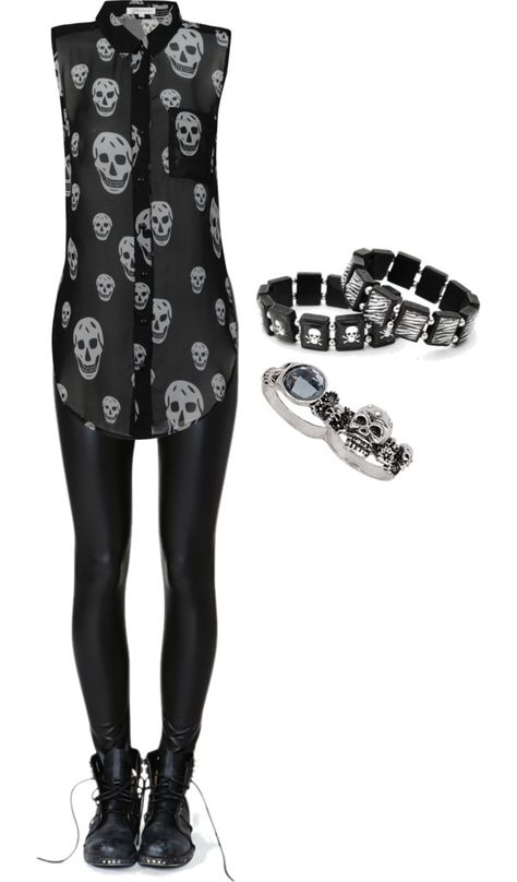 """""""Skulls 3"""" by bvb3666 ❤ liked on Polyvore"""