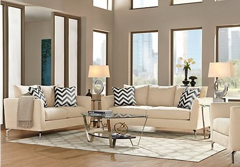 shop for a sofia vergara carinthia vanilla 5 pc living room at rooms to go find living room sets that will look great in your home and complement u2026