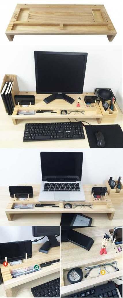 Diy Paper Holder Desk Business Cards 35 Ideas Desk Organization Diy Paper Holder Desk Monitor Stand Diy