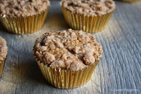 Sweet Happinez: Recept | Appel Kruimel Cupcakes