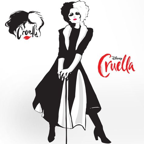 Cruella Cruella De Vil RealBig - Officially Licensed Disney Removable Wall Adhesive Decal Giant Character +2 Decals (27