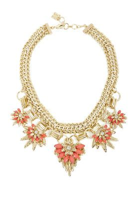 9f593a7e824 Floral-Stone Chain Necklace BCBG