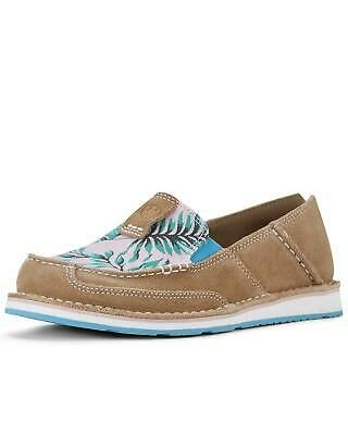 Womens Casual Canvas Flat Loafer Shoes Palm Leaves Print