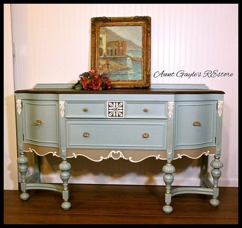 Sideboard Buffet Hand Painted Furniture 1920 S Jacobean Pick Up Only