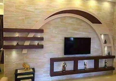 ديكور جبس تلفزيون Lcd ديكورات جبسية للتلفزيون البلازما قصر الديكور False Ceiling Design Ceiling Design Tv Wall Design